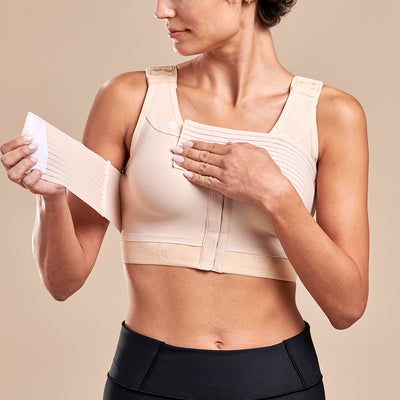 FlexFit™ Implant Stabilizer Bra - Style No. B15 Pose view, in beige