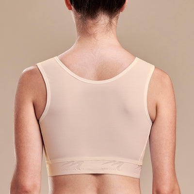 FlexFit™ Ultra-High Coverage Bra - Style No. B16, Back view, in beige
