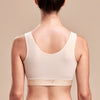 FlexFit™ Shirred Front Bra - Style No. B2, Back view, in beige