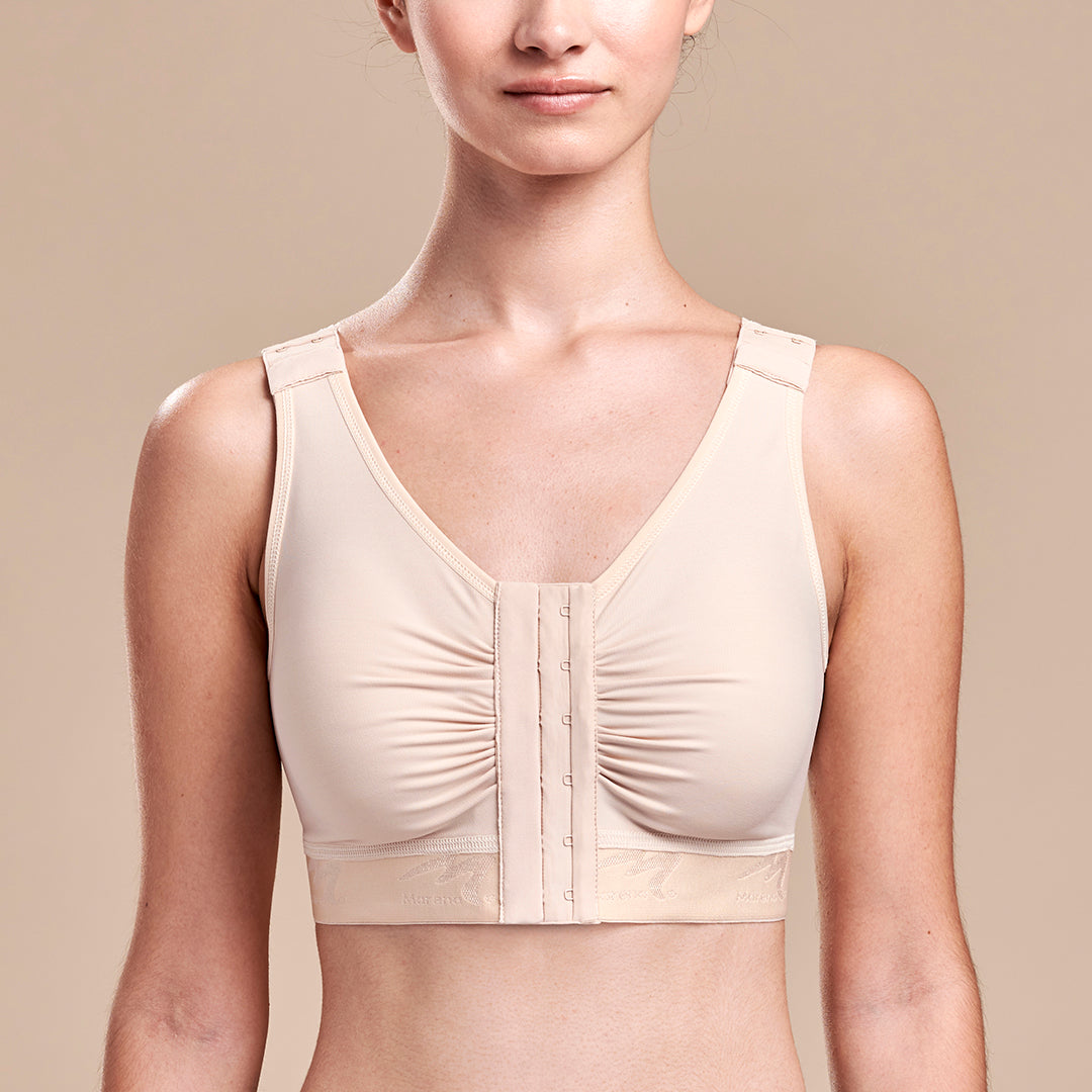 FlexFit™ Shirred Front Bra - Style No. B2, Front view, in beige