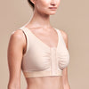 FlexFit™ Shirred Front Bra - Style No. B2, Side view, in beige
