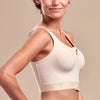 FlexFit™ High Coverage Zip-Front Bra -BNRZ Side view, in Beige