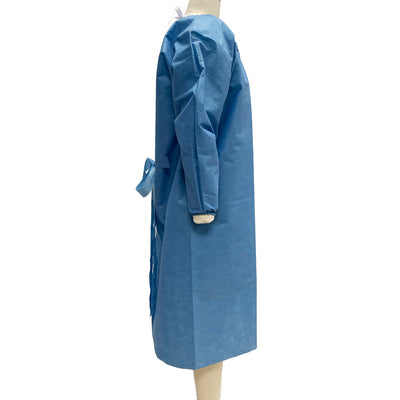 Tri-Layer SMS AAMI Level 2 Isolation Gown (Case of 100) - Style No. GOWNL2D