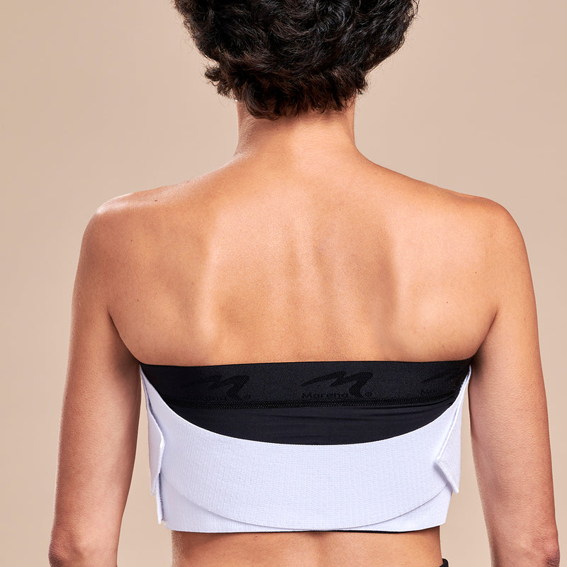 Marena Recovery, ISB-X Breast Wrap, White, Front pose
