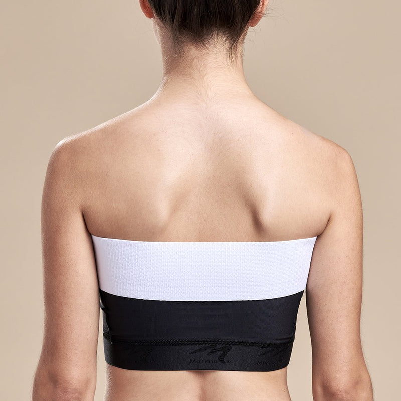 Marena Recovery, ISB2 Breast Wrap, White, Front pose