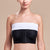 Marena Recovery style ISB Breast Wrap, front view in white