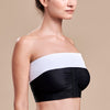 Marena Recovery style ISB Breast Wrap, side view in white