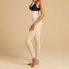 Marena Recovery LGL2 Ankle length compression girdle zipperless side view in beige