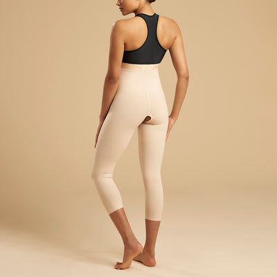 Marena Recovery style LGM2 Calf length compression zipperless girdle, back view in beige