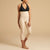 Marena Recovery LGM2 Calf length compression zipperless girdle front view in beige