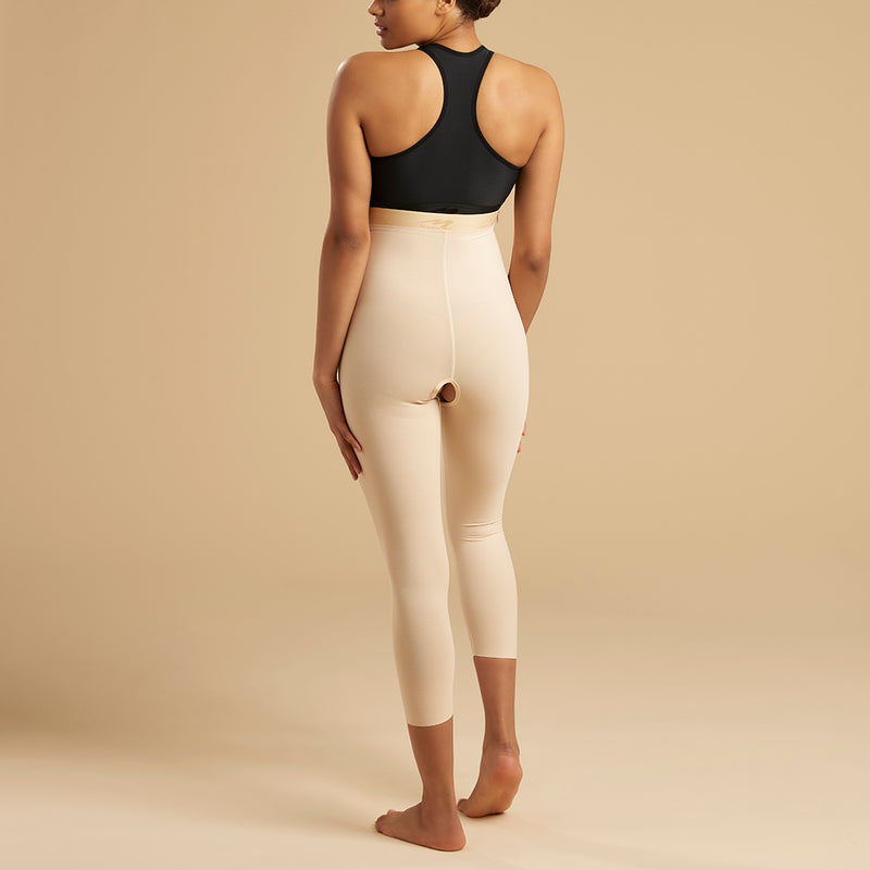 Marena Recovery LGM Calf length compression girdle front view in beige