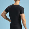 Marena Shape ME-1000 Short sleeve compression crew neck back view in black