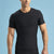 Marena Shape ME-1000 Short sleeve compression crew neck front view in black