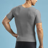 Marena Shape style ME-1001 Short sleeve compression v-neck , back view in grey