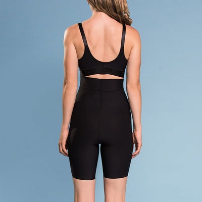 Marena  Shape ME-421 High-waist compression shorts back view, in black