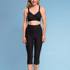 Marena  Shape ME-501 High-waist compression shorts front view, in black