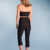 Marena Shape style ME-521 High-waist compression capris back view, in black