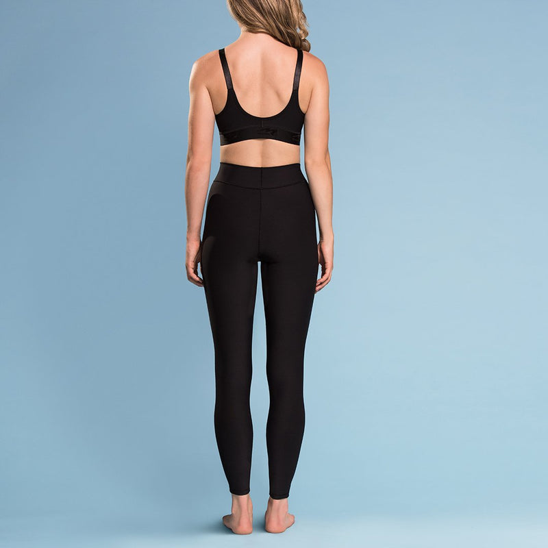 Marena Shape ME-601 Compression Legging front view, in black