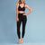 Marena Shape style ME-601 Compression Legging front view, in black
