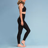 Marena Shape ME-601 Compression Legging side view, in black