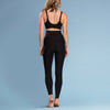 Marena Shape ME-621 High-waist compression legging back pose view, in black
