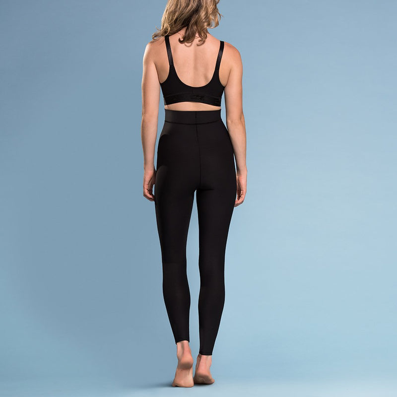 Marena Shape style ME-621 High-waist compression legging front pose view, in black