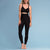 Marena Shape ME-621 High-waist compression legging front pose view, in black