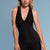Marena Shape ME-803 Easy-on compression Key hole cami front view, in black