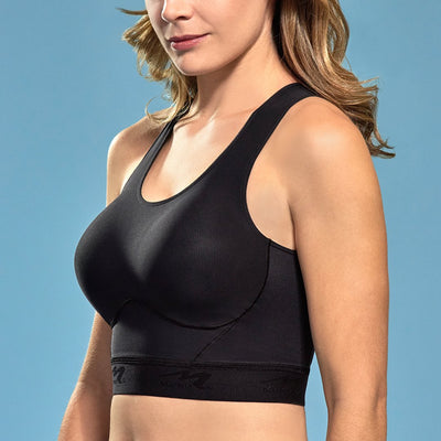 Marena Shape ME-804 Easy-on Step in Bra side view, in black