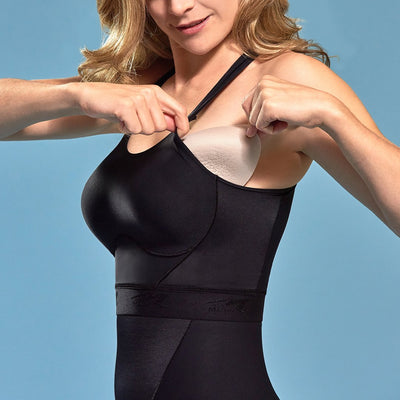 Marena Shape ME-804 Easy-on Step in Bra detail view, in black