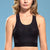 Marena Shape style ME-804 Easy-on Step in compression bra front view, in black