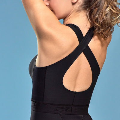 Marena Shape ME-804 Easy-on Step in Bra back view, in black