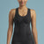 Marena Shape style ME-805 Easy-On Pocket compression cami with key-hole back, front view in black