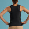 Marena Shape style ME-806 Easy-On pocket compression cami back view, in black