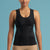 Marena Shape style ME-806 Easy-On pocket compression cami front view, in black