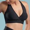 Marena Shape style ME-813 Plunge Comfort Bra front close-up view, in black