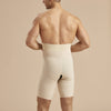 Marena Recovery style MGS Men's Thigh length compression girdle , back view in beige