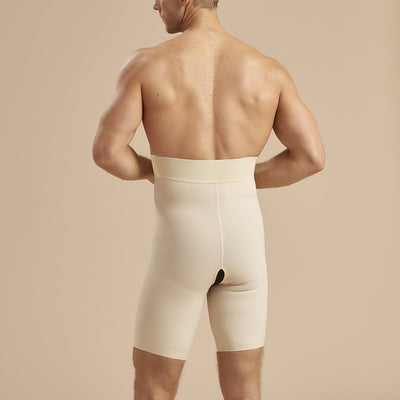 Marena Recovery MGS Thigh length girdle back view in beige