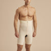 Marena Recovery style MGS Men's Thigh length compression girdle , front view in beige