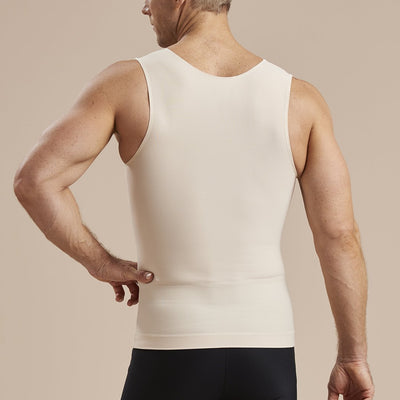 Marena Recovery MHTT Sleveless Compression Tank top back view in beige