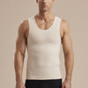 Marena Recovery style MHTT Sleeveless Compression Tank top,  front view in beige