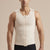 Marena Recovery style MHV Sleeveless front zipper compression vest, front pose view in beige
