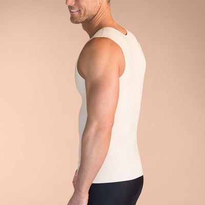 Marena Recovery style MTT Sleeveless compression Tank top, close up side view in beige