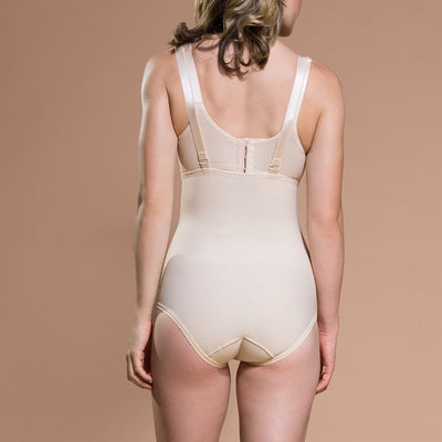 Marena Recovery style PPGA Bikini-Waist compression shaper, back view in beige
