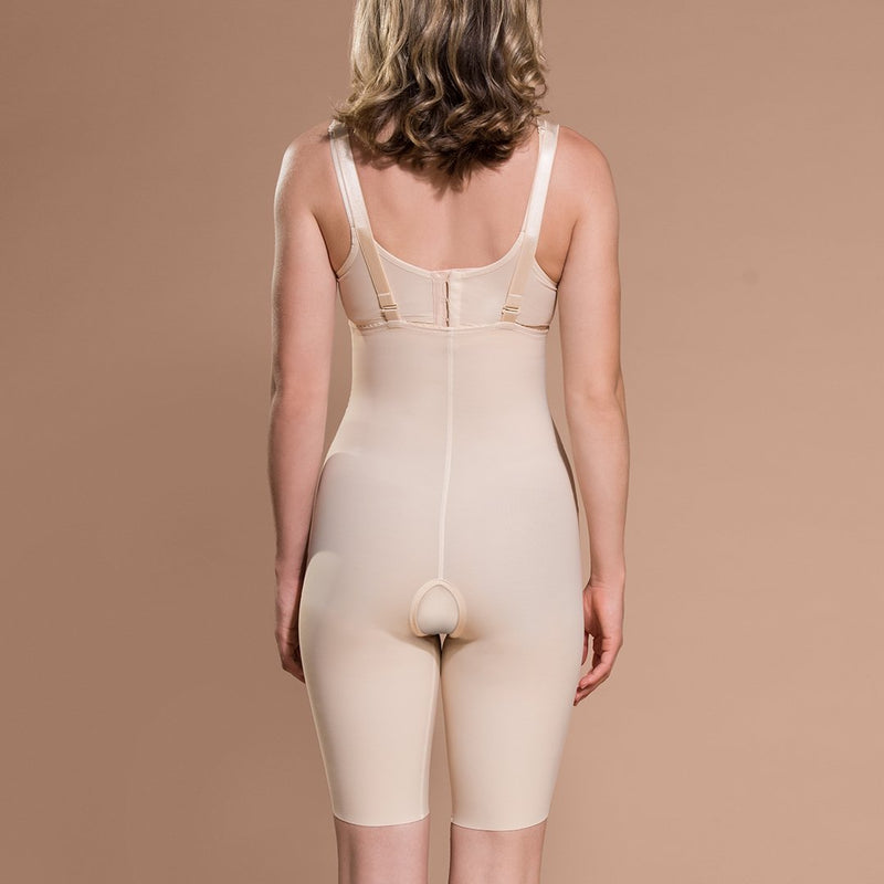 Marena Recovery style PPGS Full-Thigh Compression shaper, front view in beige