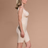 Marena Recovery style PPGS Full-Thigh Compression shaper, side view in beige