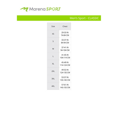 marena sport size chart for men