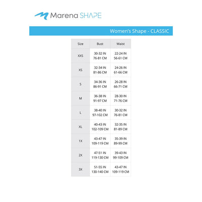 marena shape size chart for women
