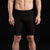 Marena Sport style 607 Men's Elite Bike compression short front view, in black