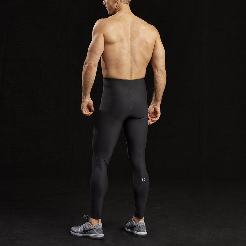 Marena Sport style 626 Pro Compression Pants-Natural waist front view, in black
